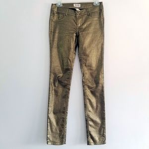 Mudd Gold Metallic Coated Skinny Jeans/Leggings